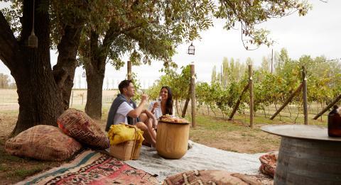 夫妇在小母牛站享受量身定制的野餐套餐,奥兰治