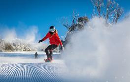 斯瑞德伯 (Thredbo) 的滑雪者